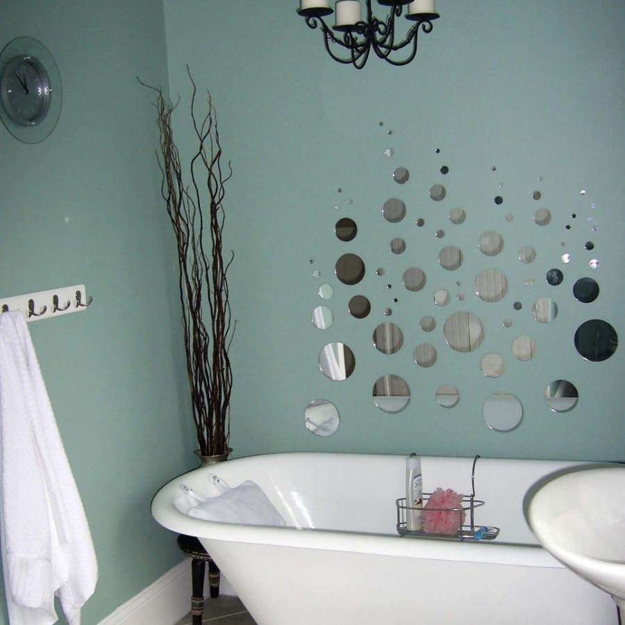 Bathroom With Bubble Wall Decor