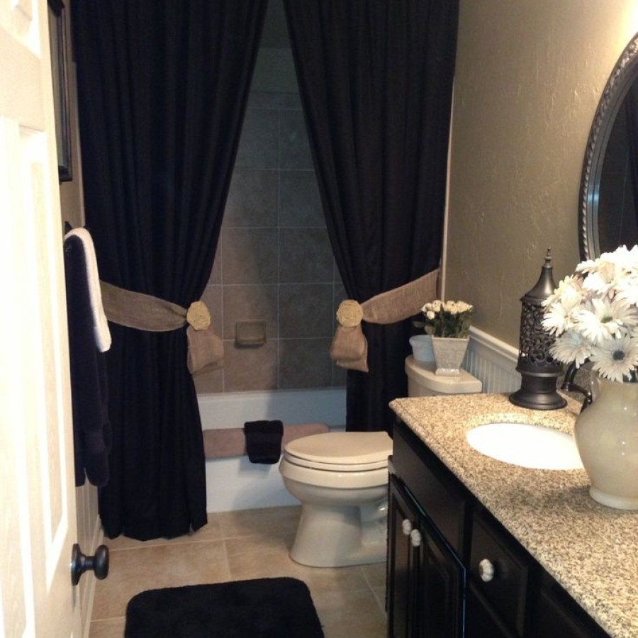 Black Shower Curtain Bathroom Decor
