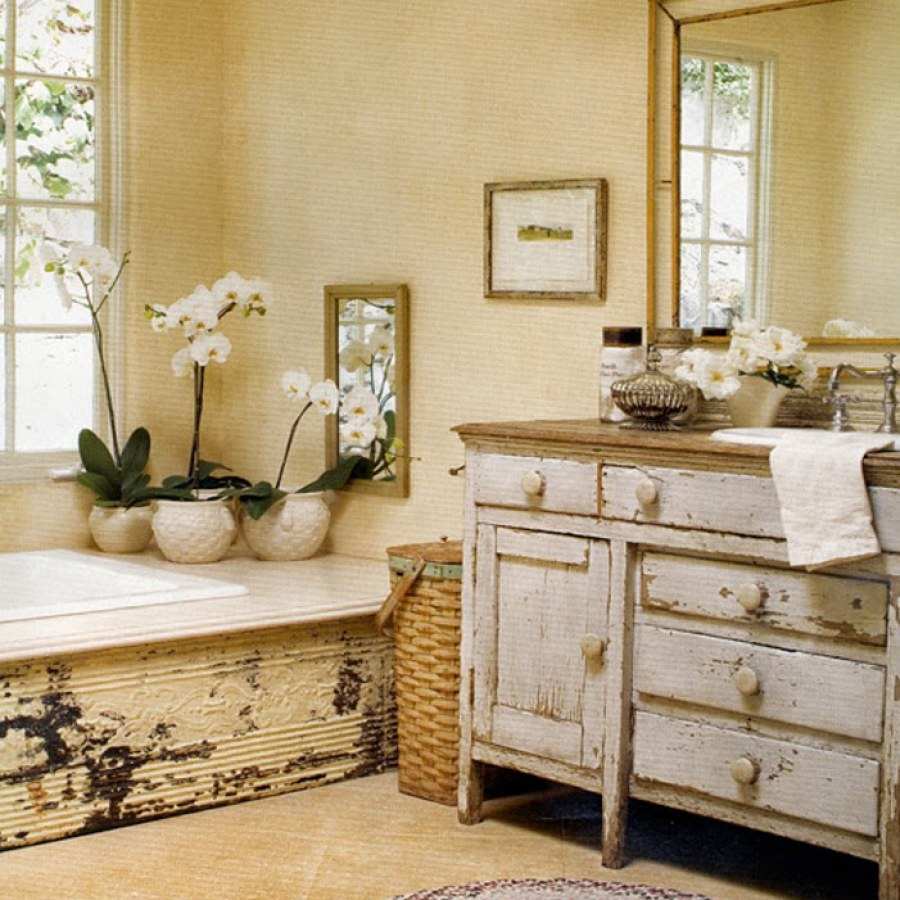 Rustic Shabby Chic Bathroom Decor
