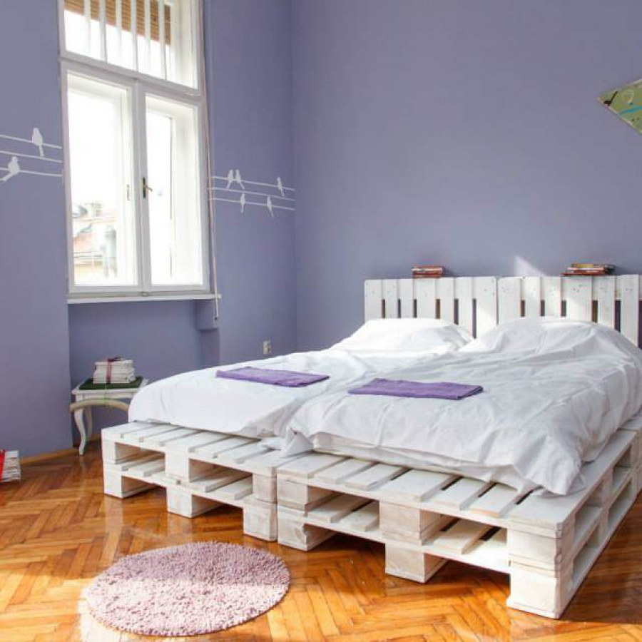 White Pallet Bedroom