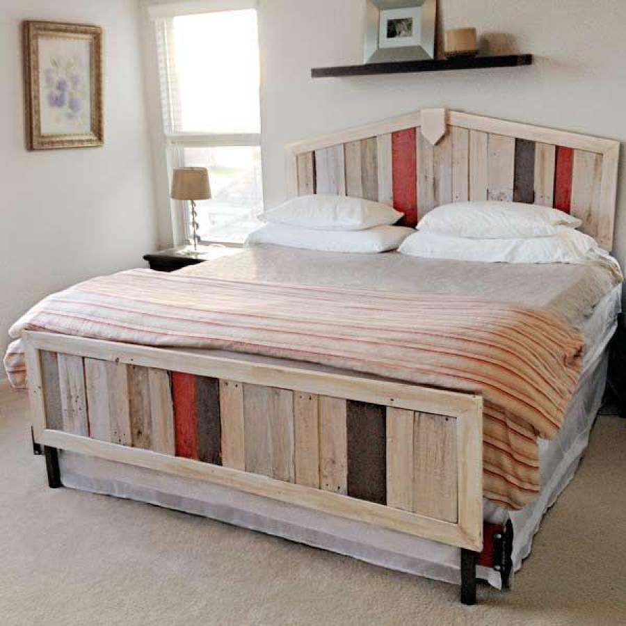 Colorful Pallet Bedroom Furniture