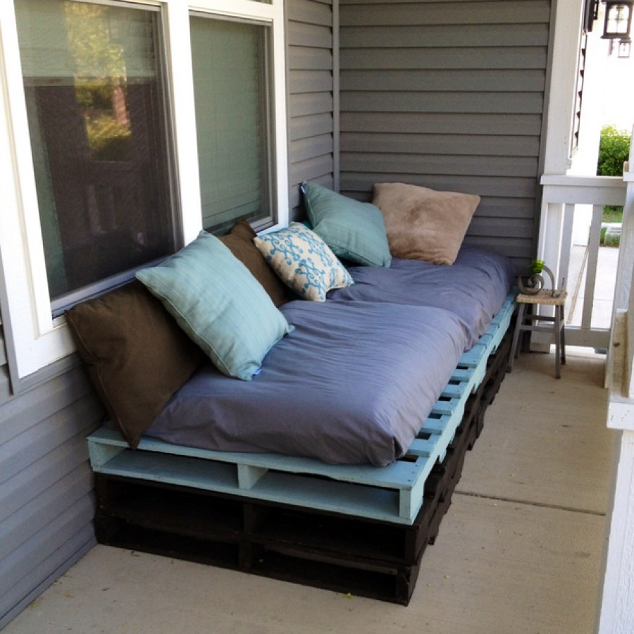 Black And Blue Pallet Furniture