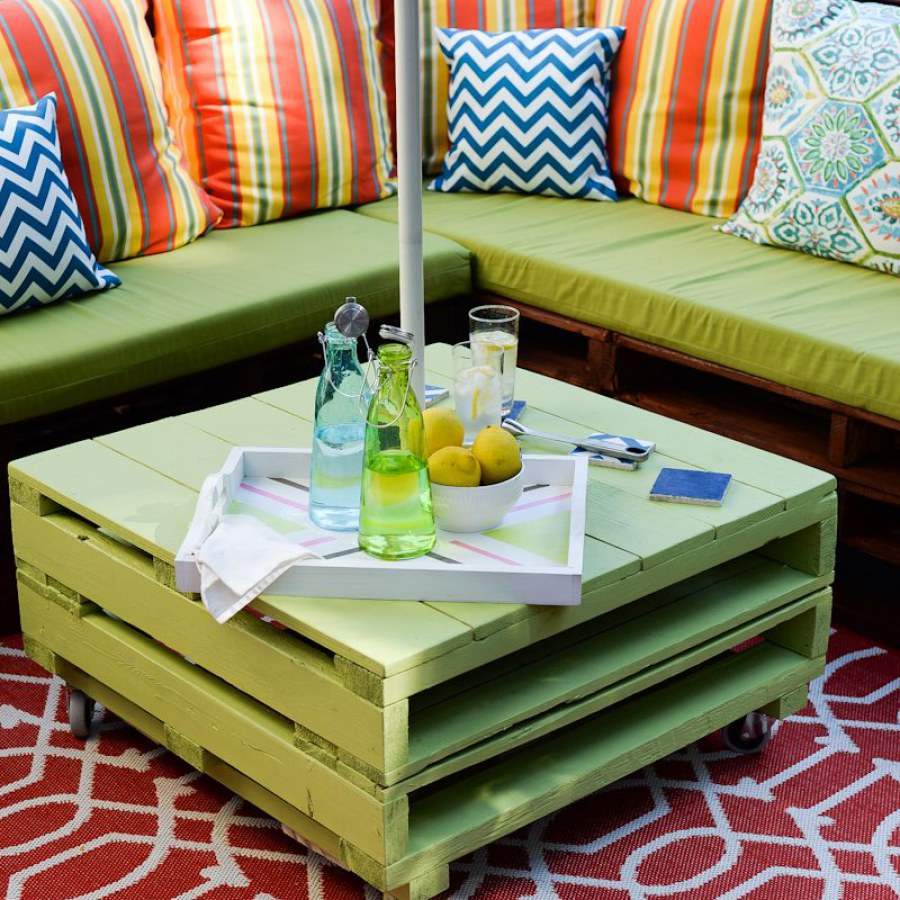 Green Pallet Furniture