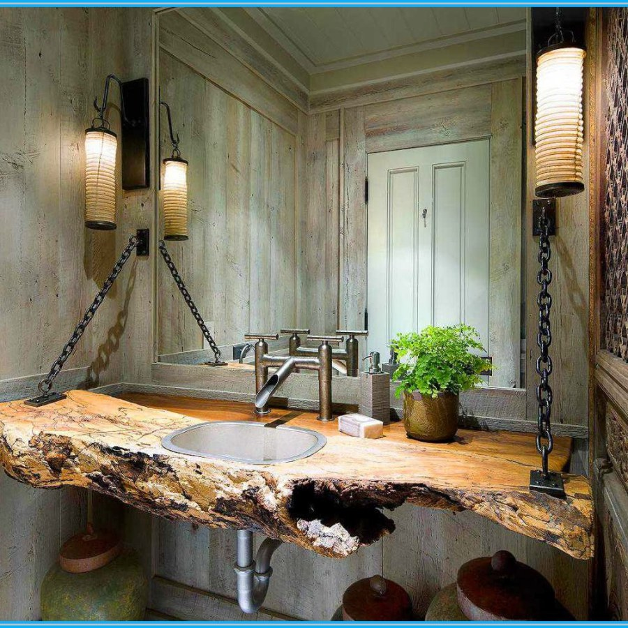 Rustic Wooden Sink Table