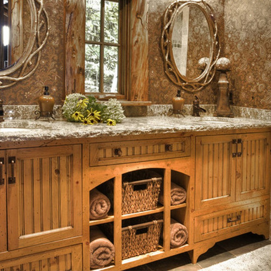 Rustic Country Style Bathroom